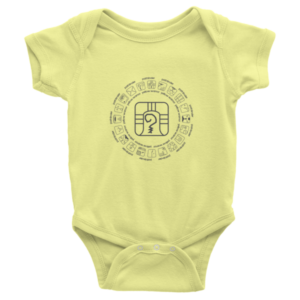 Infant Onesie – Yellow Warrior