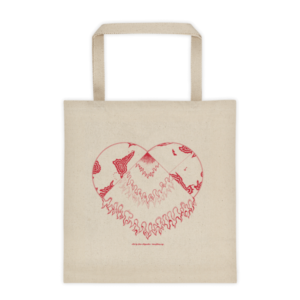 Tote bag – Heart red