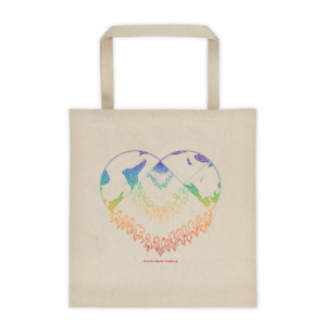 Tote bag – Heart rainbow