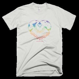 Men's T – Heart rainbow