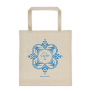 Tote bag – Star mandala blue
