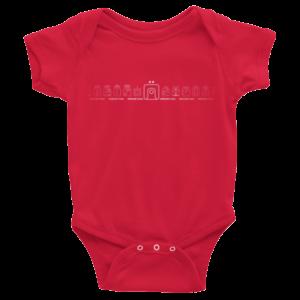 Infant Onesie – Red Lunar Moon